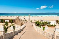 Chavesstrand Praia DE Chaves in Boavista Kaapverdië - Cabo Verde Royalty-vrije Stock Fotografie
