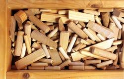 Chavetas y enchufes de madera Fotos de archivo libres de regalías