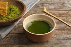 Chawan用新鲜的matcha茶 图库摄影