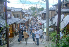 Chawan-Zaka aka Teapot Lane in Kyoto, Japan Stock Photos