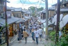 Chawan-Zaka aka tekannagränd i Kyoto, Japan Arkivfoton