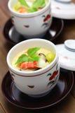 Chawanmushi japan ångade äggvaniljsås Fotografering för Bildbyråer