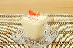 Chawanmushi- Japanese steamed egg custard Royalty Free Stock Image