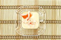 Chawanmushi- Japanese steamed egg custard Stock Images