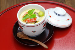 Chawanmushi, japanese steamed egg custard Stock Photography