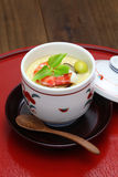 Chawanmushi, japanese steamed egg custard Royalty Free Stock Image