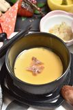 Steamed egg custard royalty free stock photography