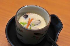 Chawanmushi, japanischer Eivanillepudding Lizenzfreies Stockbild