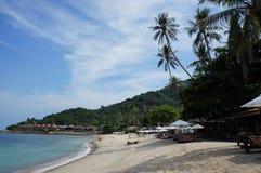 Chaweng海滩,酸值苏梅岛海岛,泰国 免版税库存照片