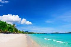 Chaweng海滩,酸值苏梅岛看法  图库摄影