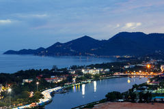 Chaweng Beach on Koh Samui Thailand. Night chaweng Beach on Koh Samui Thailand Royalty Free Stock Image