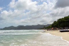 Chaweng Beach on Koh Samui in Thailand Stock Image