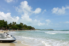 Chaweng Beach on Koh Samui in Thailand Stock Images