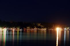 Chaweng Beach at Night 02 Royalty Free Stock Photography