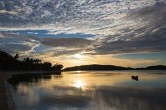 Chaweng jezioro zmierzch - Koh Samui - Zdjęcia Stock