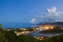 chaweng koh άποψη samui νύχτας Στοκ Εικόνες
