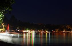 Chaweng Strand nachts 01 Lizenzfreies Stockbild