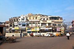 Chawri市场是黄铜,铜一个专业批发市场  库存图片