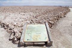 Chaxa lagun i Salar de Atacama, Chile Arkivbild