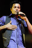 Chayanne performing live. Chayanne performing live at the Gibson Amphitheatre in Universal City, CA in May 2010 Stock Photo