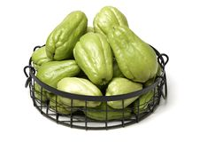 Chayote is a member of the squash stock photography