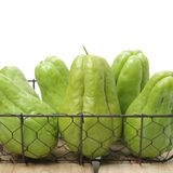 Chayote is a member of the squash, i buy from suppermaket royalty free stock photo