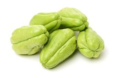 Chayote is a member of the squash, i buy from suppermaket stock image
