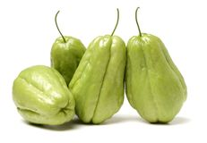 Chayote is a member of the squash, i buy from suppermaket stock photos