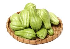 Chayote is a member of the squash, i buy from suppermaket royalty free stock image
