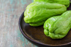 The chayote (Sechium edule) is a vegetable Stock Photo