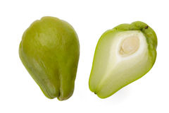 Chayote Squash And A Half Stock Photography
