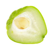 Chayote squash half Royalty Free Stock Images