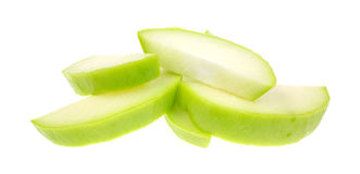 Chayote squash slices Stock Photo