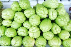 Chayote vegetables Stock Images