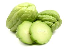 Chayote isolated on white stock image