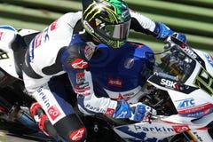 Chaz Davies - Aprilia RSV4 - corsa di MTC di ParkinGO Fotografia Stock Libera da Diritti
