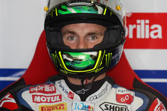Chaz Davies - Aprilia RSV4 - ParkinGO MTC Racing Royalty Free Stock Photo