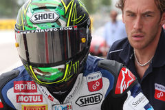 Chaz Davies - Aprilia RSV4 - ParkinGO MTC Racing Royalty Free Stock Photos