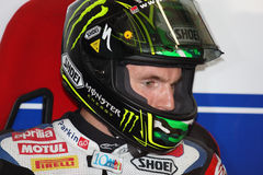 Chaz Davies - Aprilia RSV4 - ParkinGO MTC Racing Royalty Free Stock Photography