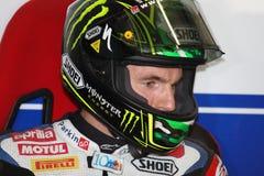 Chaz Davies - Aprilia RSV4 - ParkinGO MTC Racing Royalty Free Stock Photography