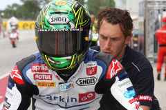 Chaz Davies - Aprilia RSV4 - ParkinGO MTC Racing Stock Photos