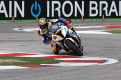 Chaz Davies #19 on BMW S1000 RR with BMW Motorrad GoldBet SBK Team Superbike WSBK stock photo
