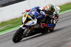 Chaz Davies #19 on BMW S1000 RR with BMW Motorrad GoldBet SBK Team Superbike WSBK Royalty Free Stock Photography