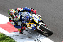 Chaz Davies #19 on BMW S1000 RR with BMW Motorrad GoldBet SBK Team Superbike WSBK Stock Image