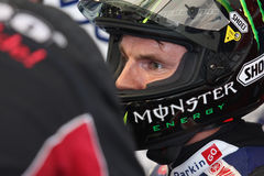 Chaz Davies world champion supersport 2011. Yamaha R6 ParkinGo Royalty Free Stock Image