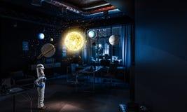 Chce zostać astronauta Mieszani środki zdjęcie royalty free