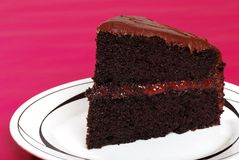 Chchocolate cake with strawberry filling Stock Photo