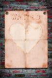 Chcieć Miłości zawiadomienia papier Zdjęcie Stock