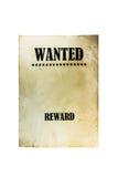 Chcieć nieboszczyk lub żyje papierowego tło zachód plakatu dziki Zdjęcie Royalty Free
