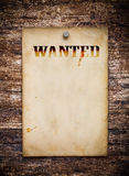 Chcieć plakat Zdjęcia Royalty Free